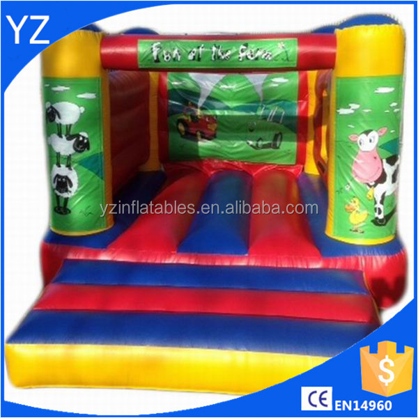 Inflatable Farm Yard Fun Eco Bouncer For Commercial