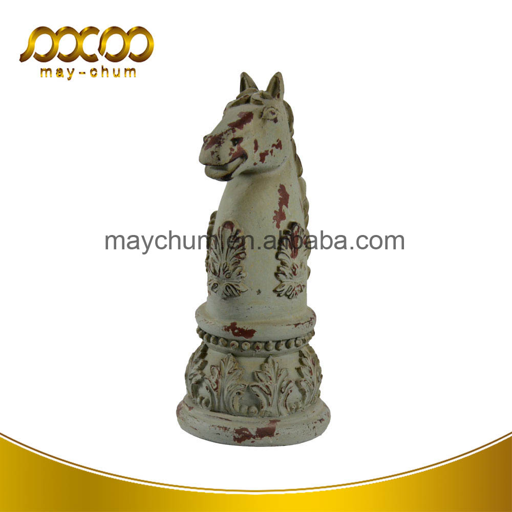 Wholesale Antique Horse Head Decorative Poly Resin Sculpture For Art Craft