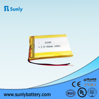 li-ion polymer battery pack 603450 rechargeable battery 3.7V 950mAh for portable devices
