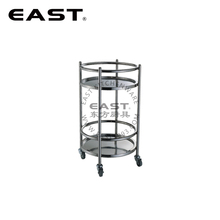 Factory Price Stainless Steel Round Bar Cart/Wine Trolley