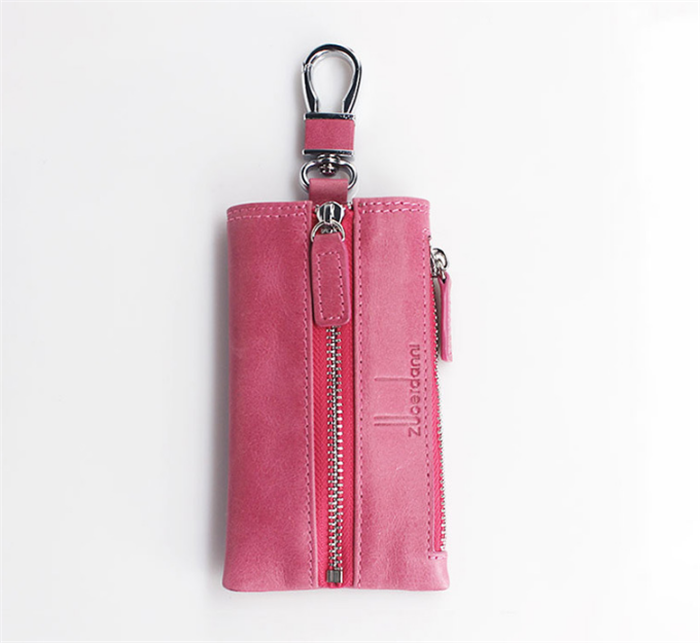 High Quality Keychain Wallet With Key Ring Women Zippered Key Holder Pouch Key Hanger