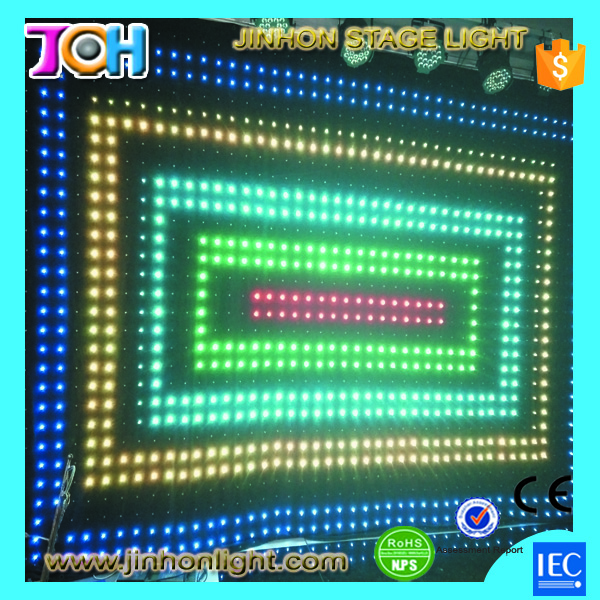 led video cloth, led vision curtain red tube video