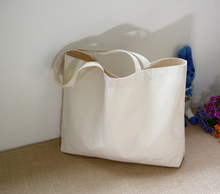 Environmental recycled tote shopping bag cotton canvas tote bag