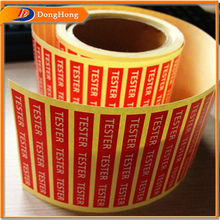 Prited colorful paper shipping mark labels