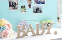 White Hanging Decorative Wood Letters for Children's, Nursery & Baby's Room, Baby Name Wall Letters, Girls Bedroom Wall Hangin