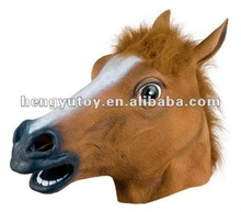 3D Animated Halloween Theater Rubber Brown Horse Head Mask