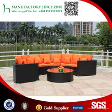 Half round rattan sofa sectional curved wicker sofa outdoor furniture