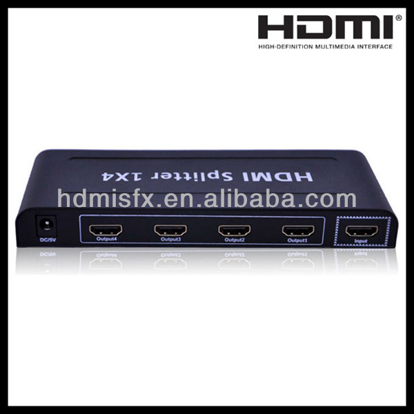 Hot Sales 1 in 4 out HDMI Splitter with 3D,CEC,HDCP 1080p Support,Good quality assured