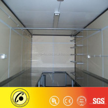 20ft container with electrical system and steel shelf