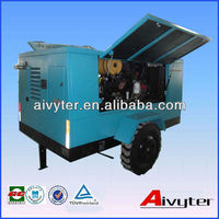 424cfm150PSI Mining used Portable air compressor with drill rig