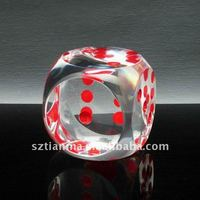 Clear acrylic casino big dice factory