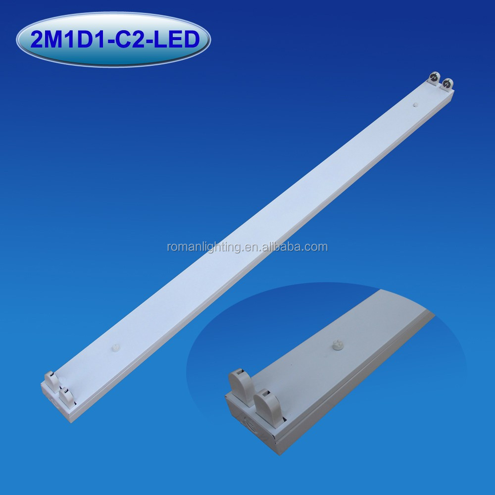 2x36/40W fluorescent light fixture parts ceiling light fixture double fixture