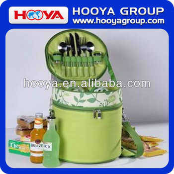 Cylindrical 2- person picnic set