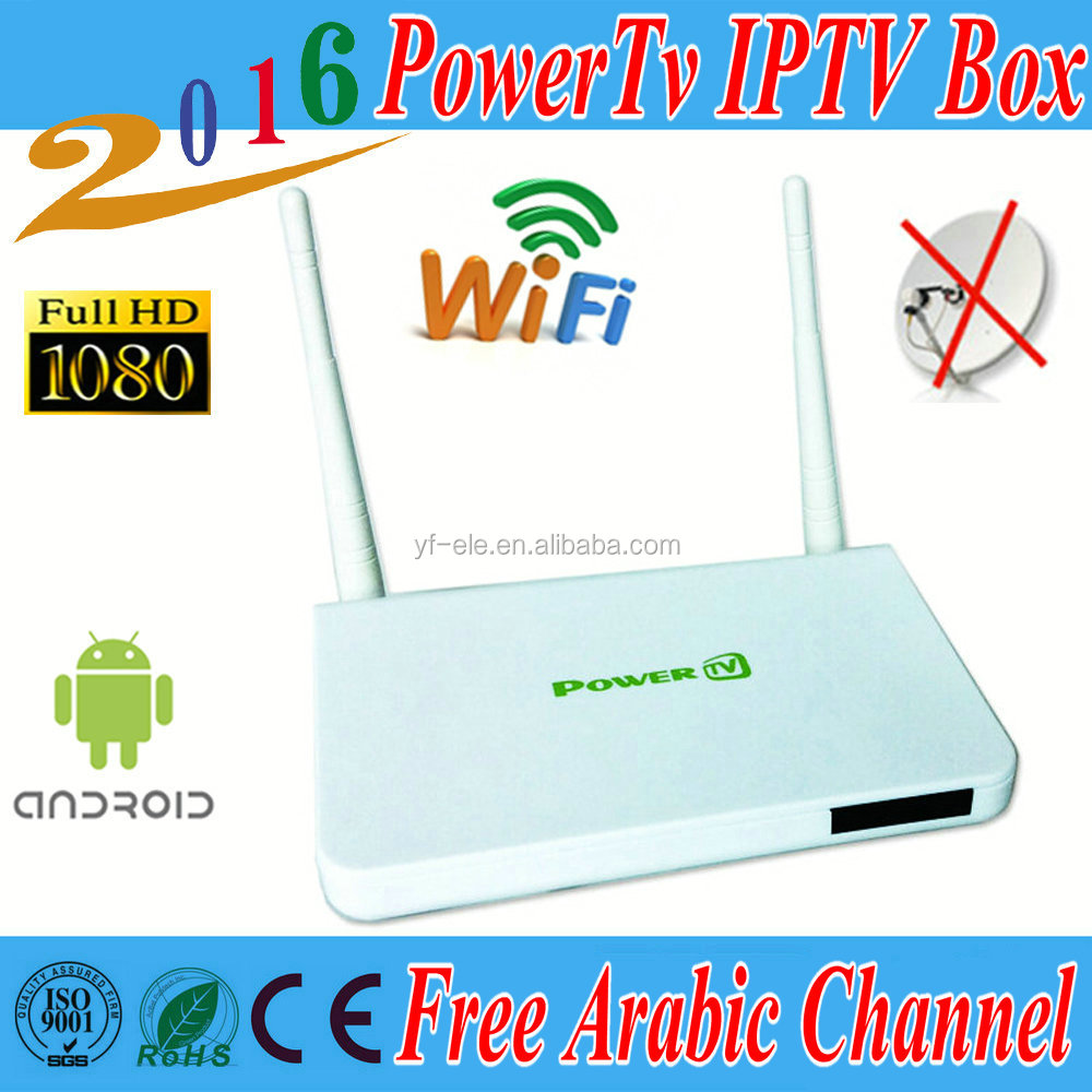 PowerTv X6 Arabic Box Iptv HD with strong wifi signal Android 4.4 tv box Wifi BN sport channels kodi free lifetime