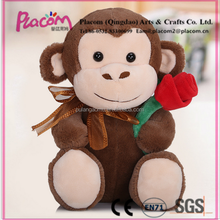 Special Valentine's gifts and Holiday gifts Wholesale Cheap Custom Plush toy Monkey with flower