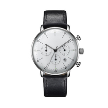 High Quality Mesh Strap Quartz Watch Stainless Steel Back Mens Chronograph Wrist Watch