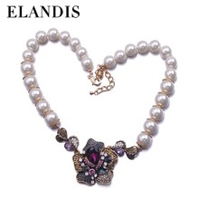 E-ELANDIS Latest fashion baroque pearl necklace large bulk pearls necklace jewelry