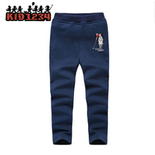 wholesale children Boy' Uniform sport Casual Trousers long baseball varsity softshell winter pants suits