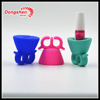 NEW arrival silicone stand for nail polish bottle , cute nail polish holder ring ,nail polish silicone holder