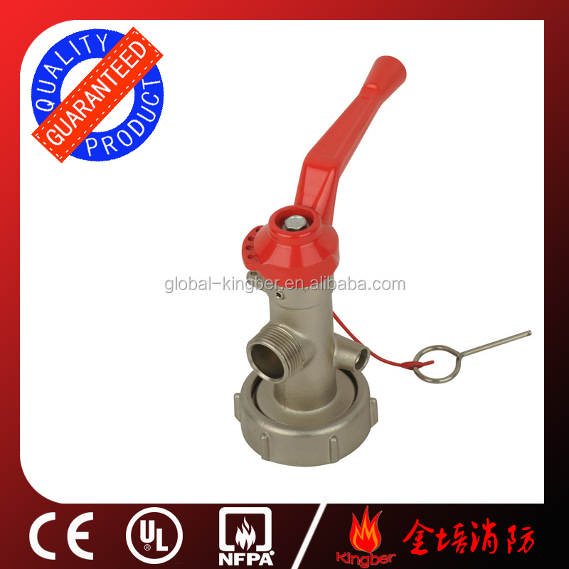 CE Approved <strong>Brass</strong> Material Red ABS Handle 25/50KG Dry Chemical Powder Trolley Fire Extintor Valve with Nickel Plated
