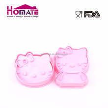 cute plastic hello kitty cat shaped cookie cutter