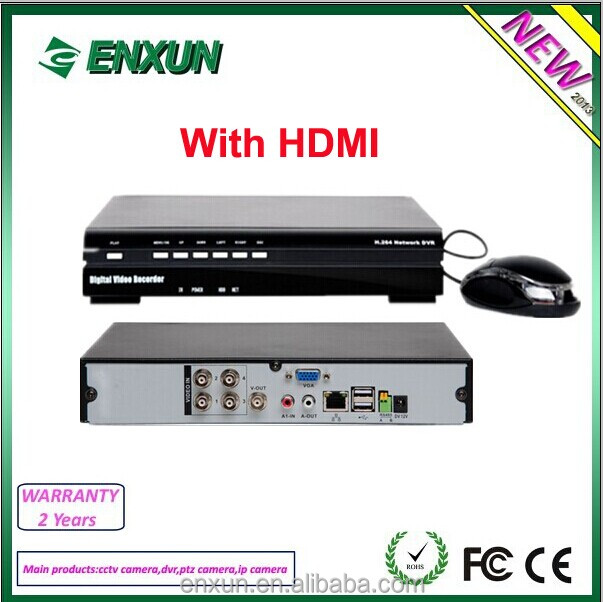 Hot Selling mini 4 Channel 960H DVR CCTV System - Enxun
