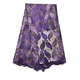 Latest Design Nigerian Purple French Lace
