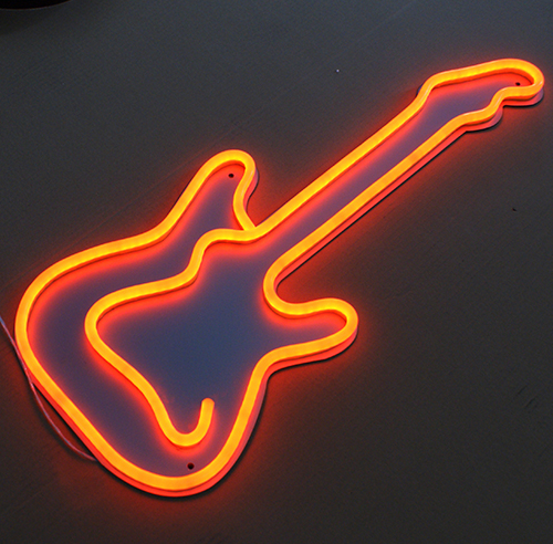electric guitar neon signs