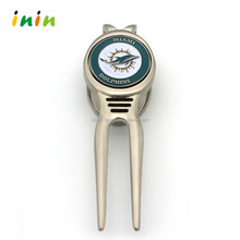 Fashion magnetic golf ball marker hat clip with customized club logo