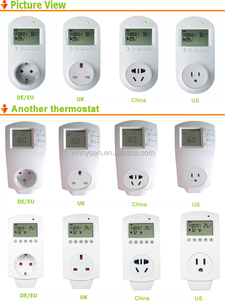 Electric heating blanket plug thermostat socket temperature controller