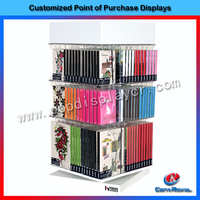 2016 China factory supply 4-sides display acrylic book holder stand for library