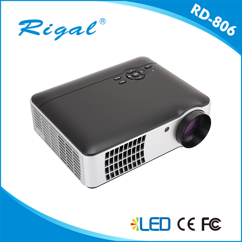 High lumens home theater music system led/lcd projector, portable audio video full HD projector 1080p China wholesale
