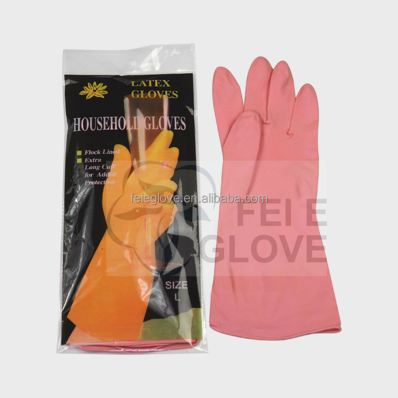 40g50g60g rolled cuff red colour household hand goods washing gloves <strong>manufacturer</strong>