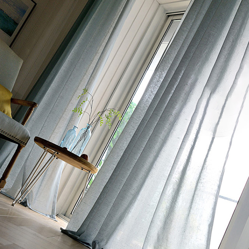 New Design 100% Polyester Sheer Curtains White Voile Sheer Fabric for Living Room