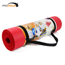 Cheap Yoga Mat with Carry Strap NBR Round Yoga Mat