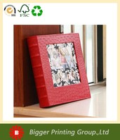 Classical album collection book, red leather cover photo album wholesale