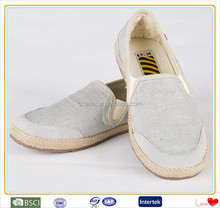 High quality warm no lace plain white men canvas shoes