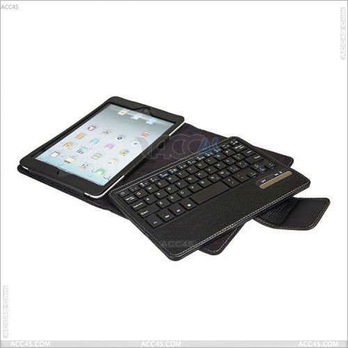 Detachable Bluetooth Keyboard With Leather Case for iPad Mini Case With Keyboard P-iPDMINICASE077