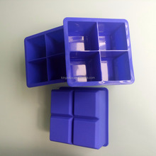 Cocktail Cube Extra Large Ice Cube Silicone Trays - 2.25 inches - Whiskey Drinks - Freeze Food