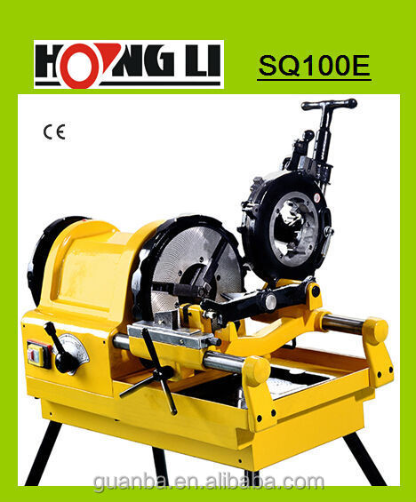 "SQ100E used pipe threading machine, 4"" electric threader"