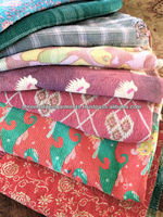 INDIAN VINTAGE KANTHA DECORATIVE THROWS-quilts-blanket-gudri AT whole DISCOUNTED PRICES