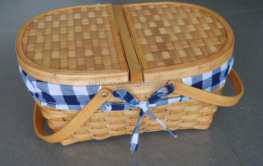 wood chip picnic baskets
