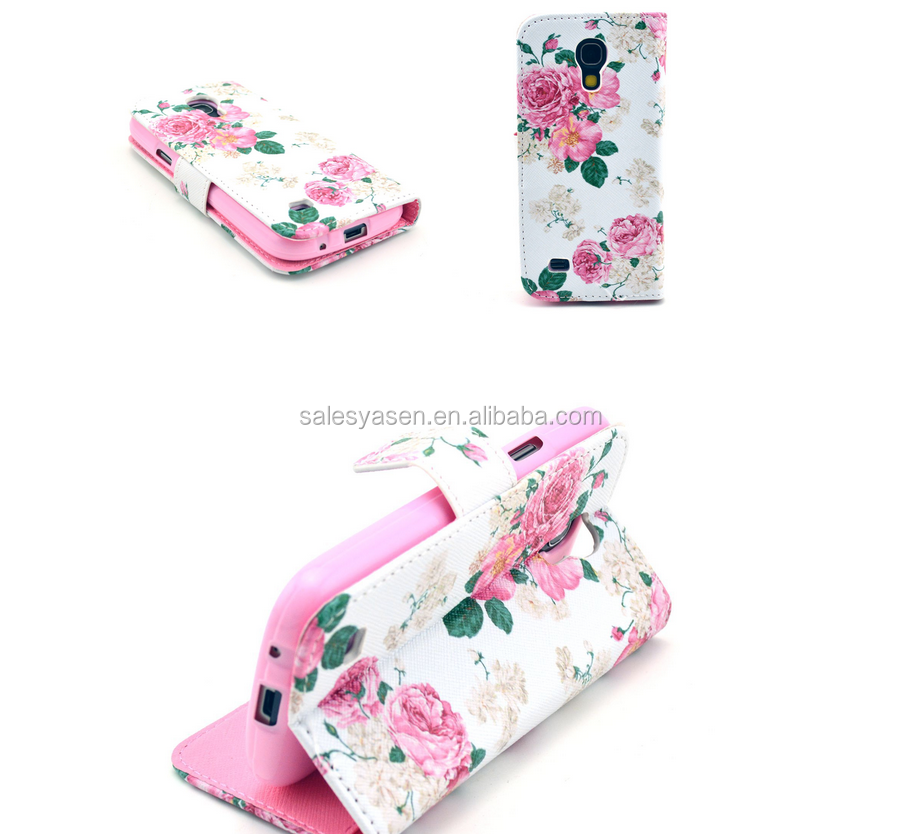 Fashion Flower Nation Pattern Design PU Leather Case For iPhone 6 With Stand Wallet Cell Phones Case