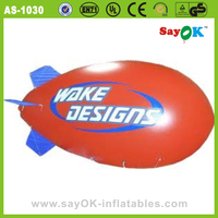 Inflatable airship rental helium advertising blimp for sale