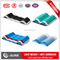 Strong impact resistance waterproof corrugated roofing plastic sheets