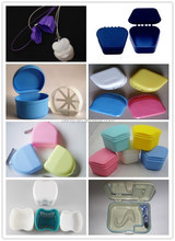 Colored plastic false teeth container/dental orthodontic retainer case/denture storage box