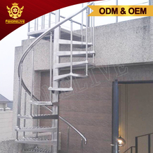 Exterior Commercial Industrial Curved Metal Steel Stairs Design House Outdoor Circular Stainless Steel Spiral Staircase