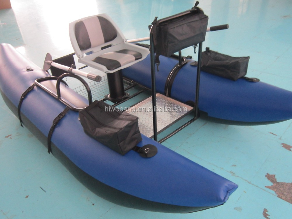 One person inflatable fishing pontoon boat buy one for One man fishing boats