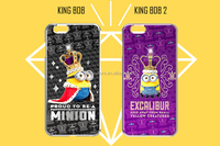 Promotional cute 3d minion 3d silicone phone case for travel