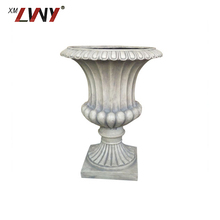 Chinese Manufacturer White Flower Pot Decoration Big Plant Pots